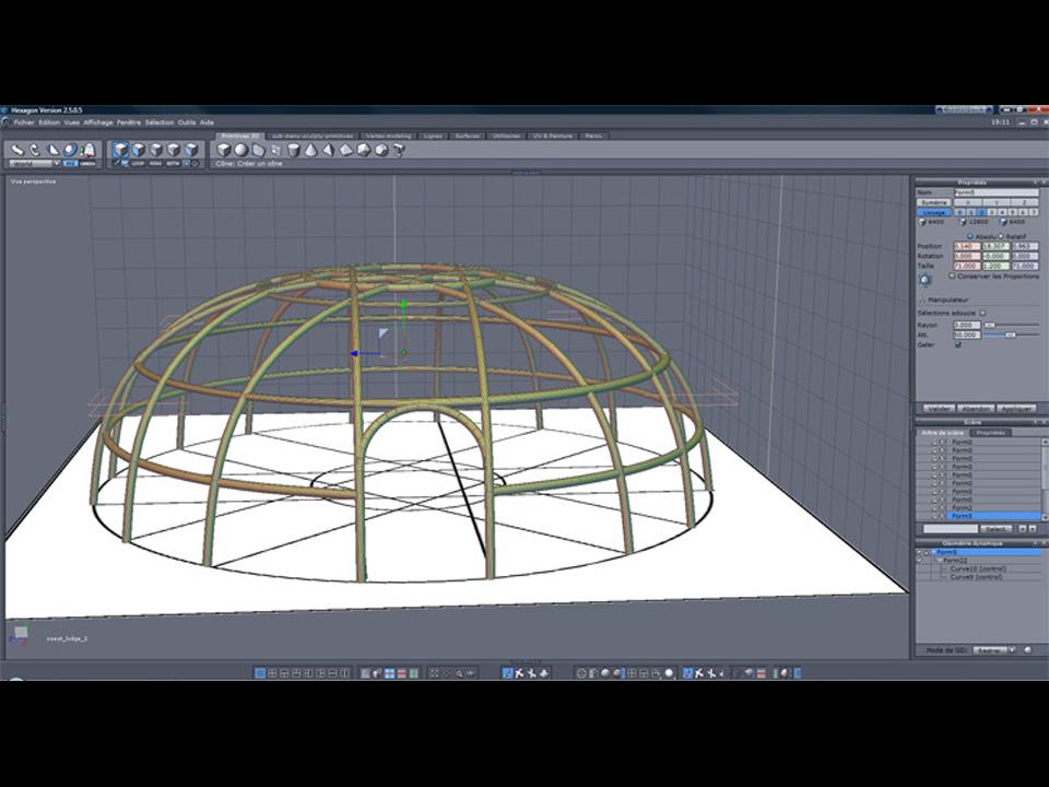 Modélisation de la structure de la Hutte de Sudation