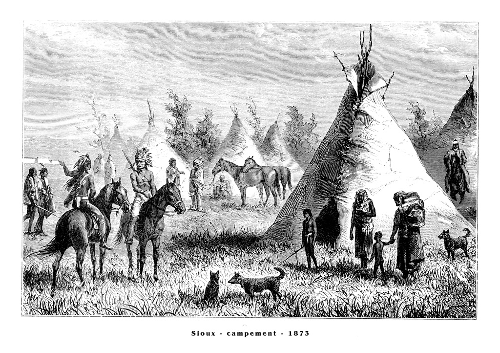 Village sioux 1873