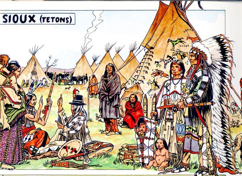 Les Sioux - illustration