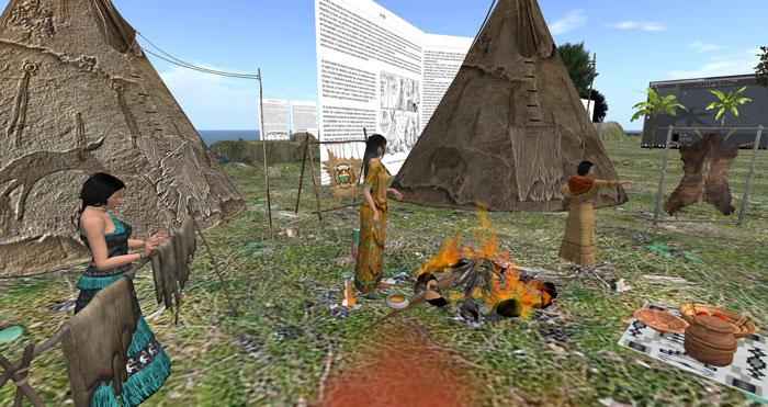 Vue du village terminé avec les indiennes